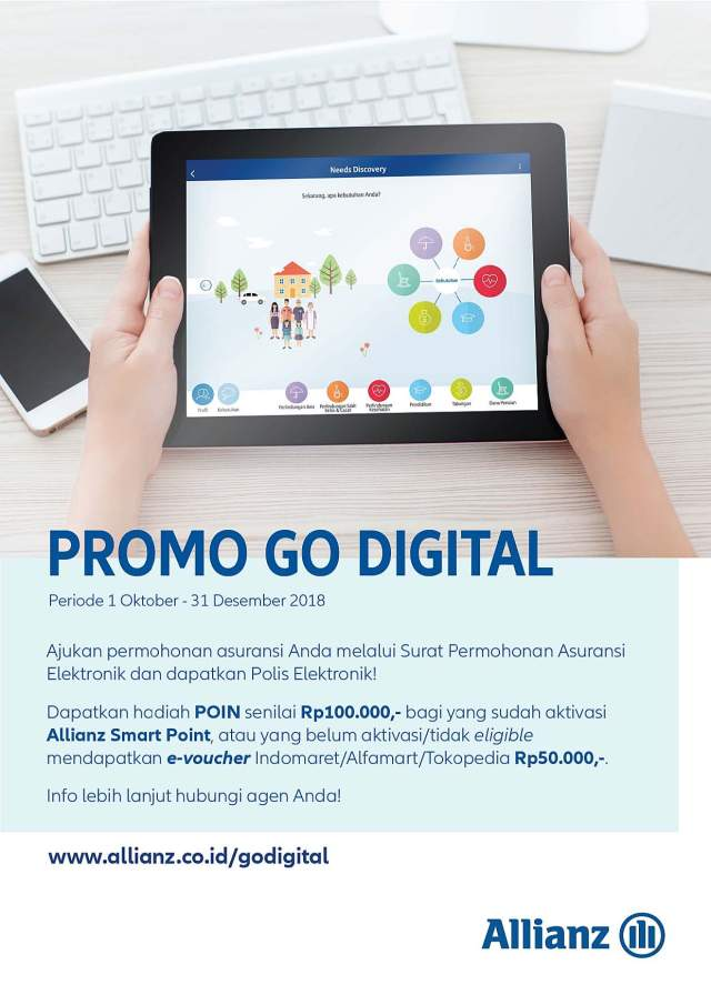 Flyer Nasabah Go Digital Campaign